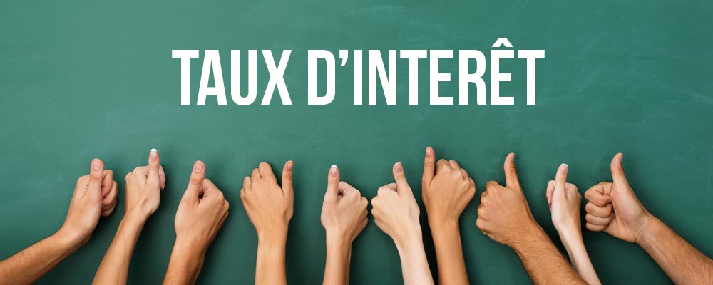 calculer taux d'interet